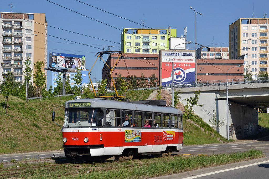 Fotogalerie » ČKD Tatra T3M 1573   Brno   Královo Pole   Purkyňova