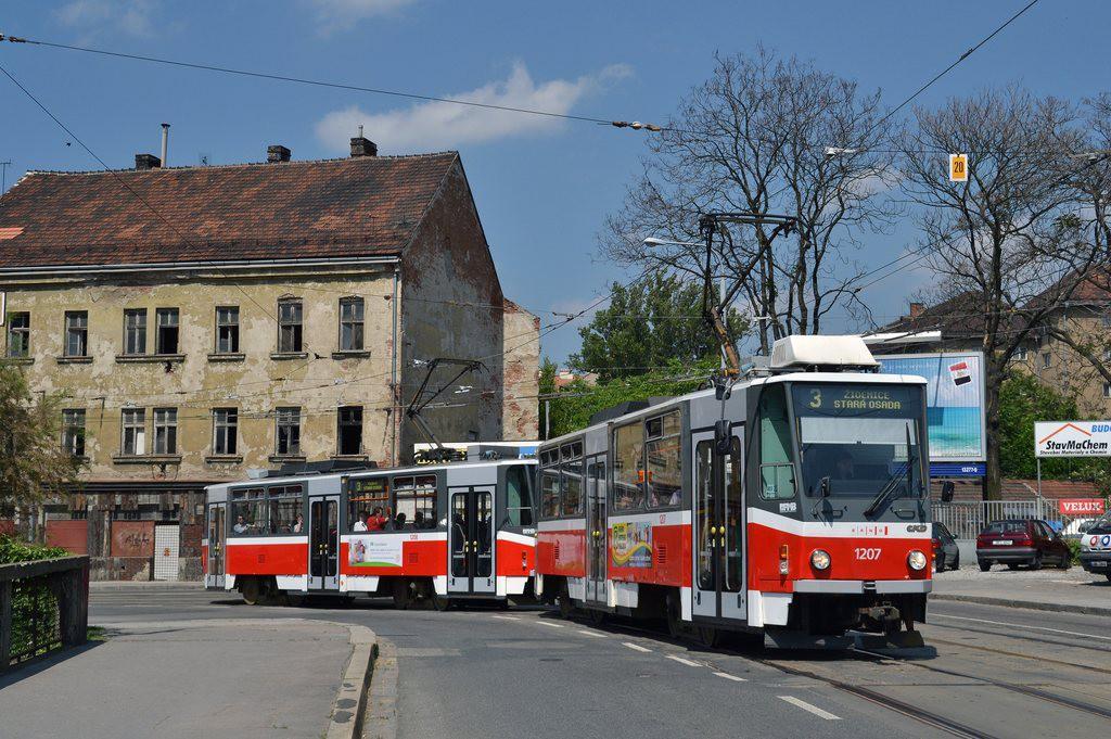 Fotogalerie » ČKD DS T6A5 1207 | ČKD DS T6A5 1208 | Brno | Zábrdovice | Cejl