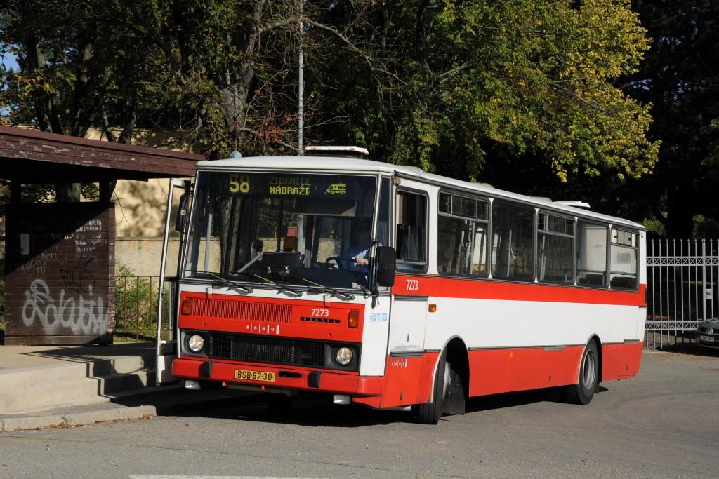 Fotogalerie » Karosa B732.40 BSB 62-30 7273 | Brno | Líšeň | Šimáčkova | Líšeň, hřbitov