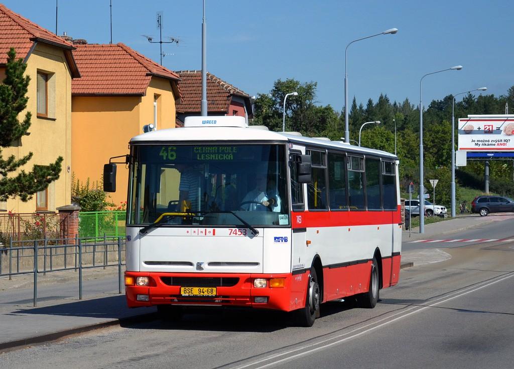 Fotogalerie » Karosa B931E.1707 BSE 94-68 7453 | Brno | Černá Pole | Merhautova | Štefánikova čtvrť