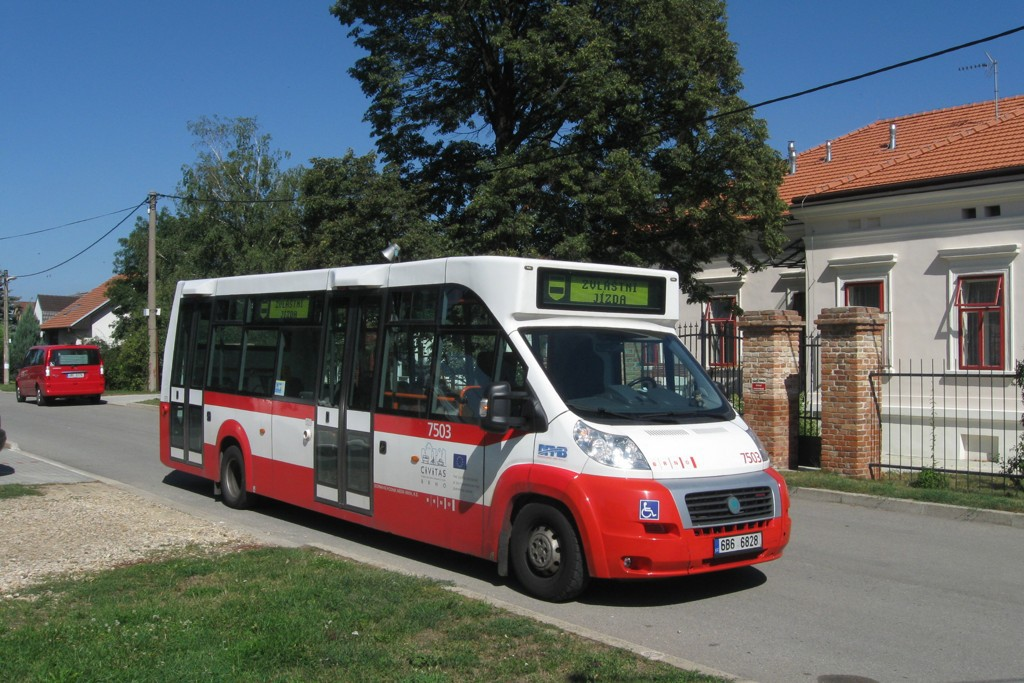 Fotogalerie » MAVE-Fiat CiBus ENA MAXI 6B6 6828 7503 | Hrušovany u Brna | Tyršova