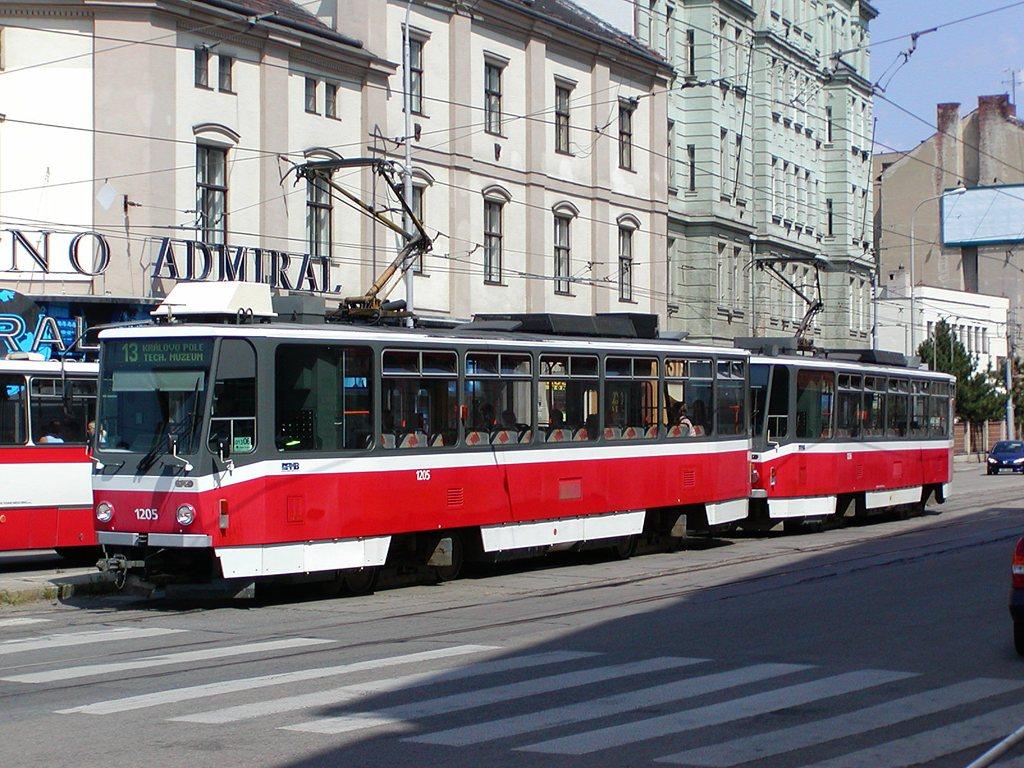 Fotogalerie » ČKD DS T6A5 1205   ČKD DS T6A5 1206   Brno   Trnitá   Křenová