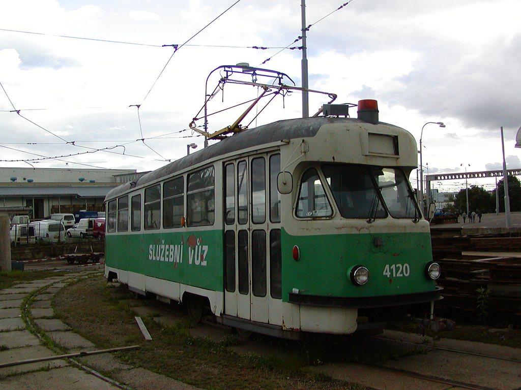 Fotogalerie » Tatra T2 služební 4120 | Brno | vozovna Medlánky