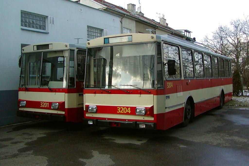 Fotogalerie » Škoda 14Tr07 3201 | Škoda 14Tr07 3204 | Brno | Komín | vozovna Komín