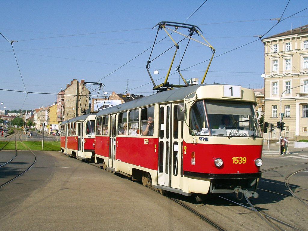 Fotogalerie » ČKD Tatra T3 1539 | ČKD Tatra T3 1598 | Brno | střed | Nové sady