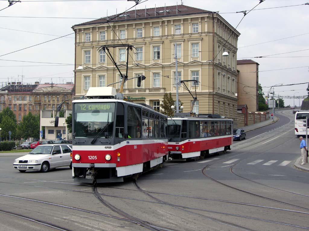 Fotogalerie » ČKD DS T6A5 1205 | ČKD DS T6A5 1206 | Brno | střed | Husova
