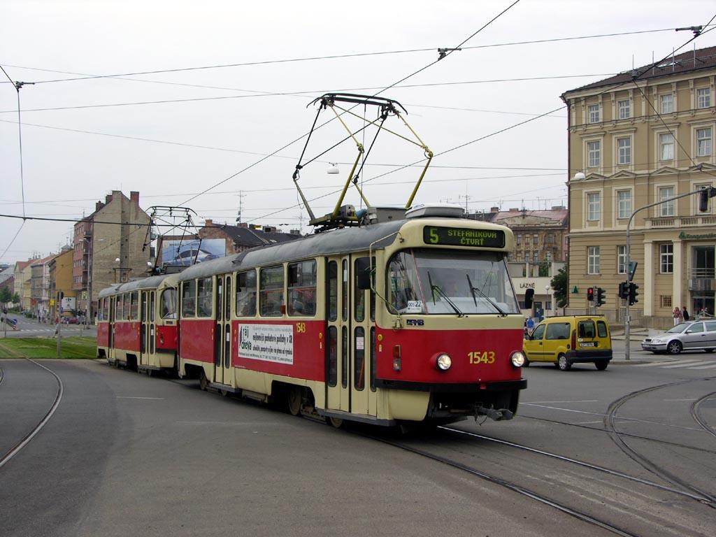 Fotogalerie » ČKD Tatra T3P 1543 | ČKD Tatra T3P 1587 | Brno | střed | Nové sady