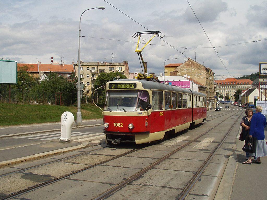 Fotogalerie » ČKD Tatra K2P 1062 | Brno | Štýřice | Vídeňská | Polní