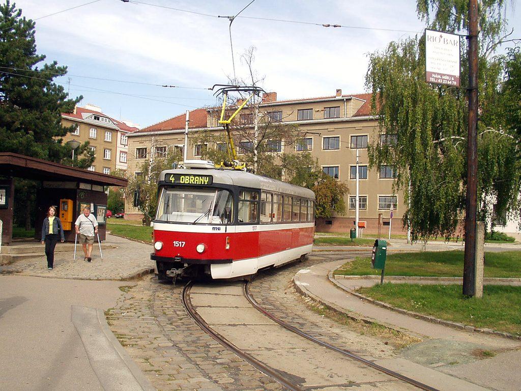 Fotogalerie » Pragoimex T3R.PV 1517 | Brno | Masarykova čtvrť | Náměstí míru | Náměstí Míru, smyčka