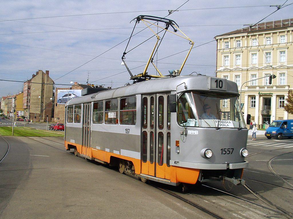 Fotogalerie » ČKD Tatra T3M 1557   Brno   střed   Nové sady