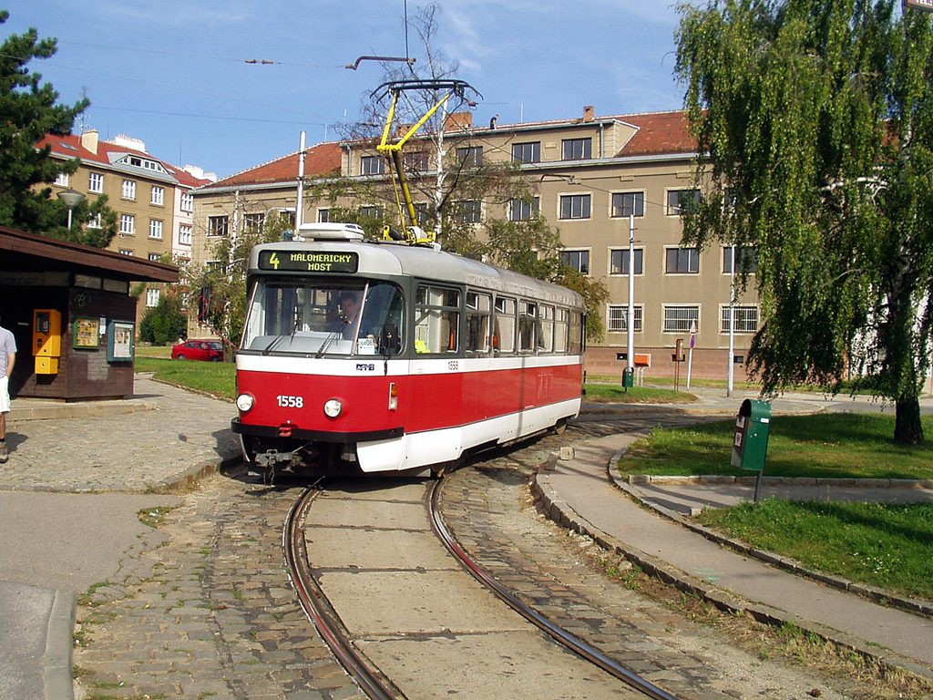 Fotogalerie » Pragoimex T3R.PV 1558 | Brno | Masarykova čtvrť | Náměstí míru | Náměstí Míru, smyčka
