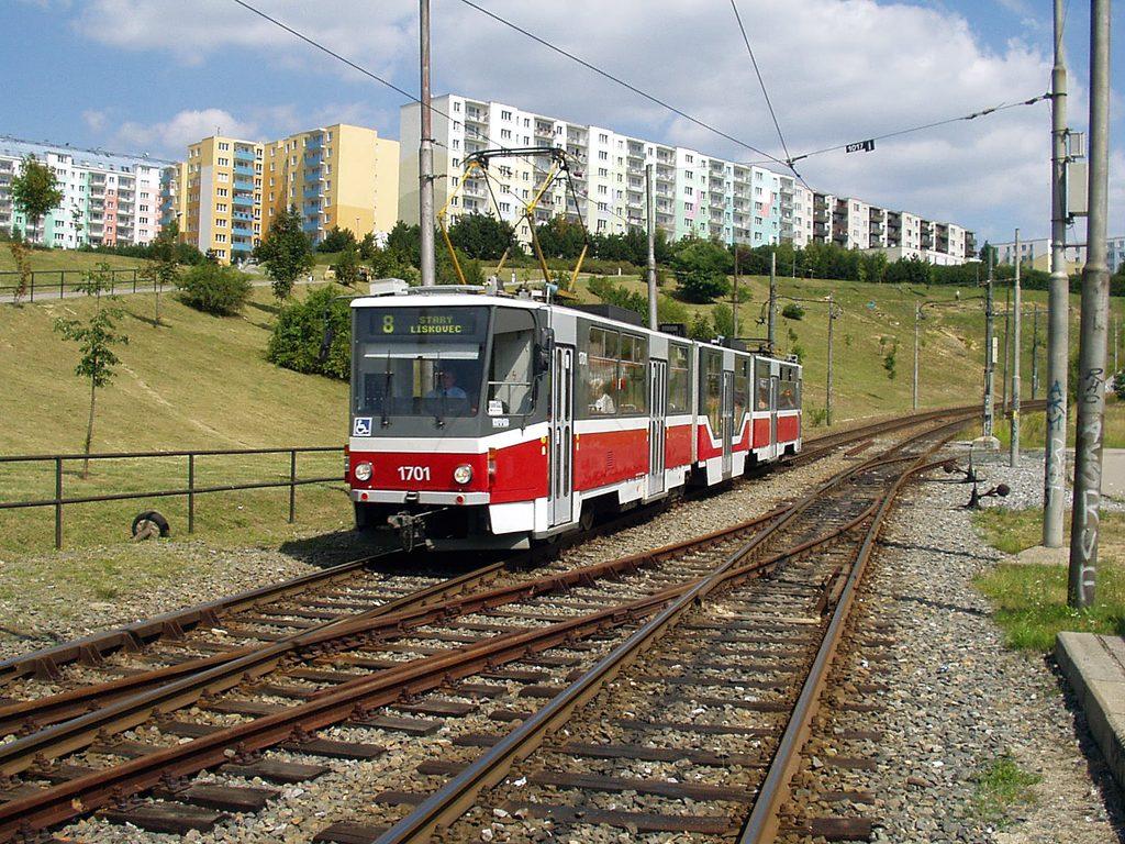 Fotogalerie » ČKD Tatra KT8D5R.N2 1701 | Brno | Líšeň | Kotlanova