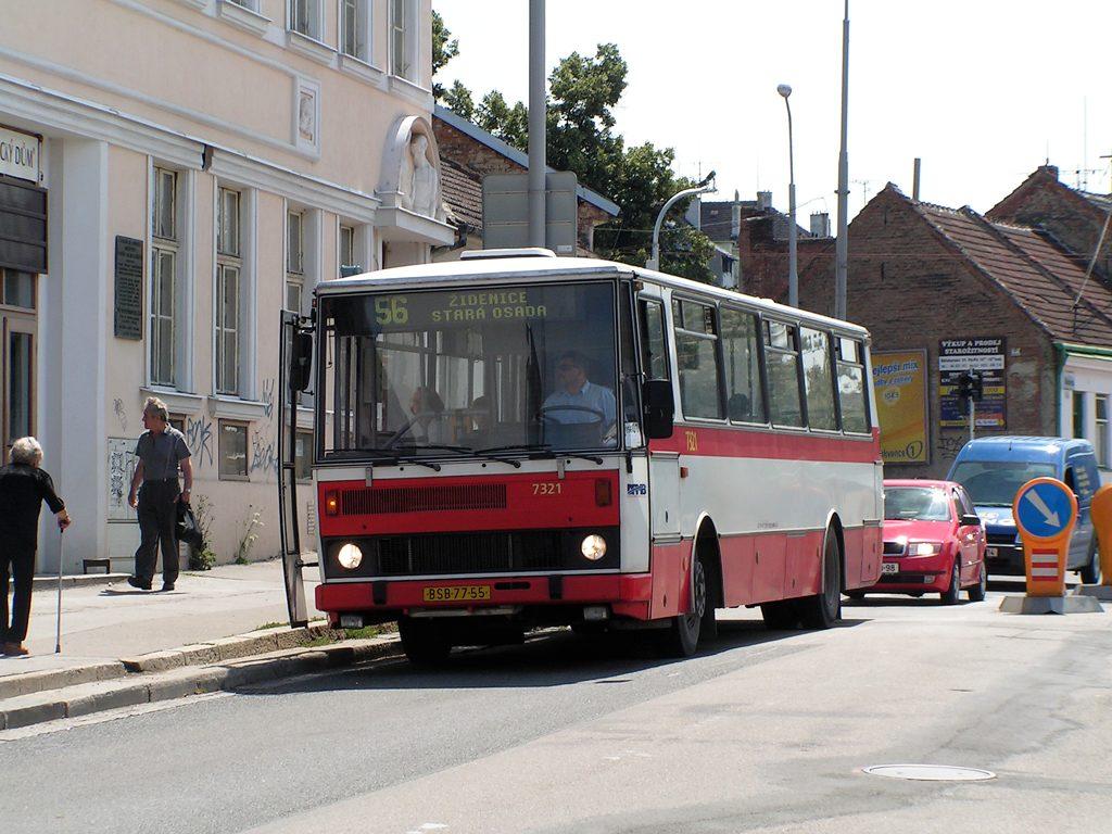Fotogalerie » Karosa B732.1652 7321 | Brno | Židenice | Jamborova | Dělnický dům