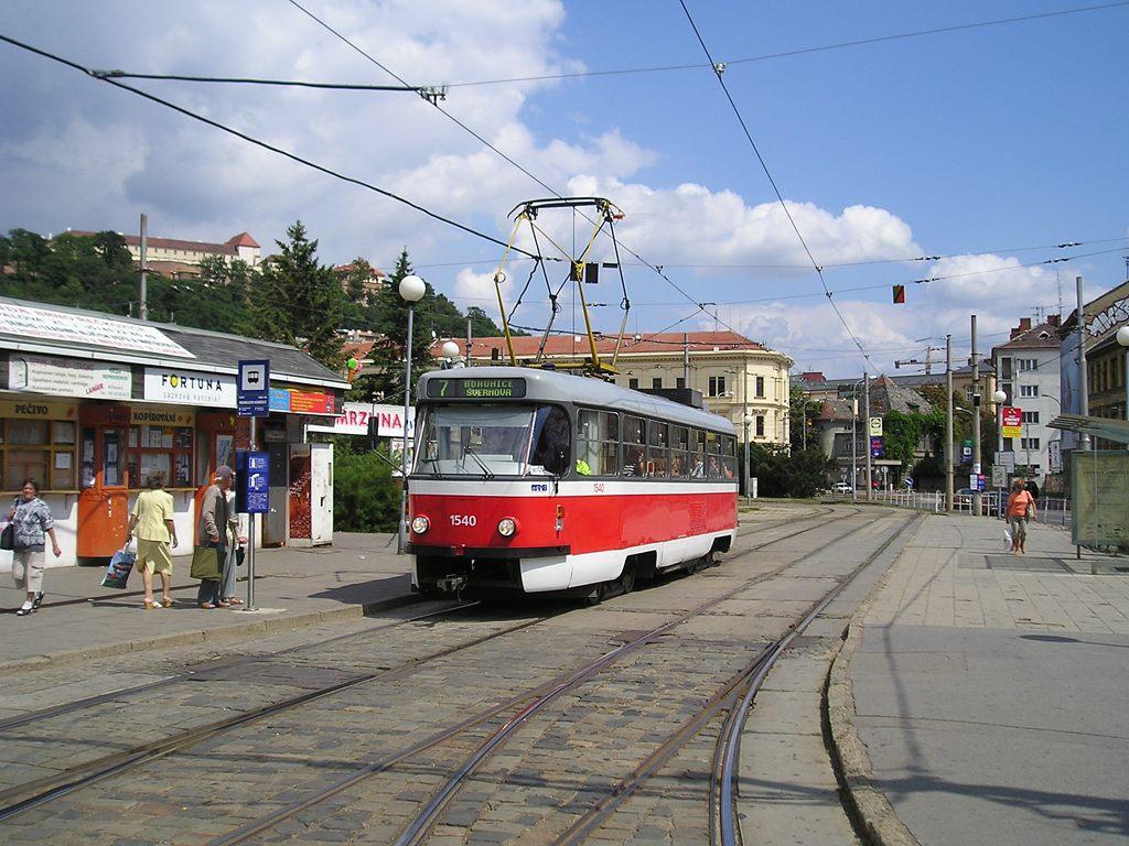 Fotogalerie » ČKD Tatra T3M 1540 | Brno | Staré Brno | Mendlovo náměstí | Mendlovo náměstí