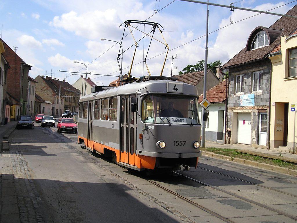 Fotogalerie » ČKD Tatra T3M 1557 | Brno | Husovice | Valchařská