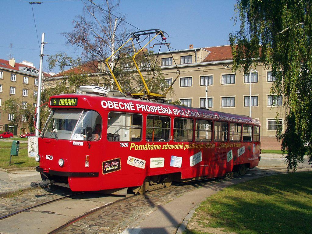 Fotogalerie » ČKD Tatra T3P 1620 | Brno | Masarykova čtvrť | Náměstí míru | Náměstí Míru, smyčka