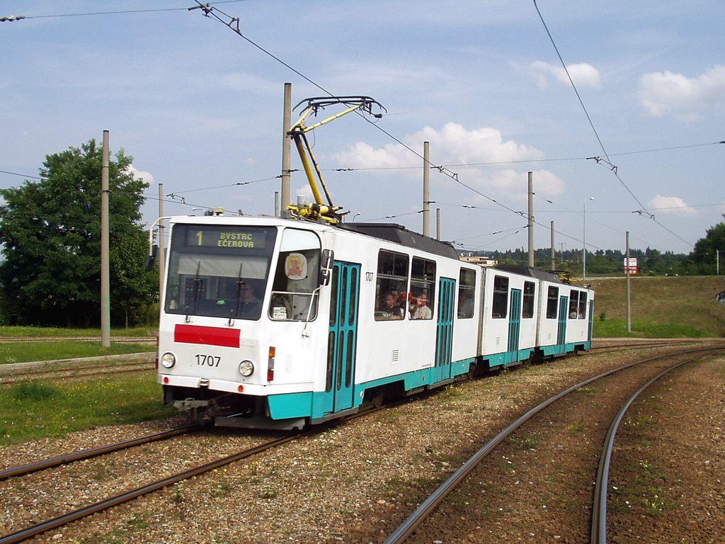 Fotogalerie » ČKD Tatra KT8D5 1707 | Brno | Bystrc