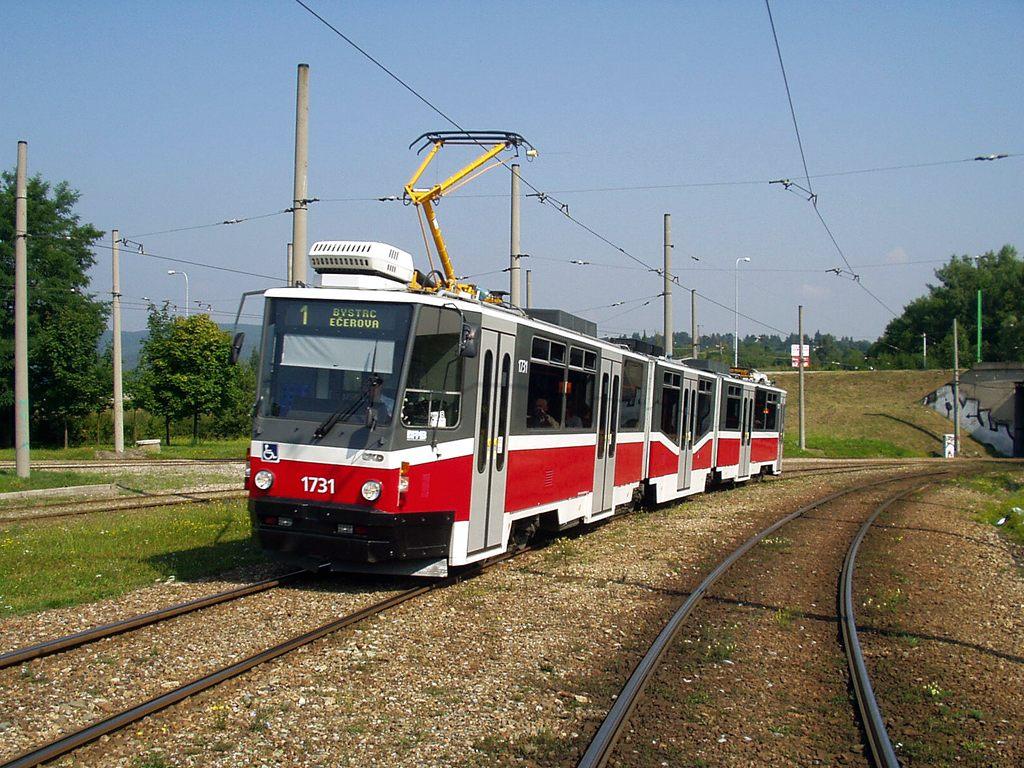 Fotogalerie » ČKD Tatra KT8D5N 1731 | Brno | Bystrc