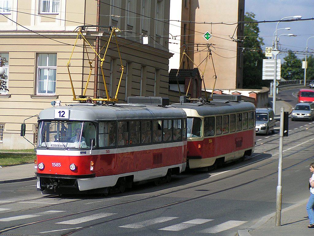 Fotogalerie » ČKD Tatra T3M 1585   ČKD Tatra T3M 1594   Brno   střed   Husova