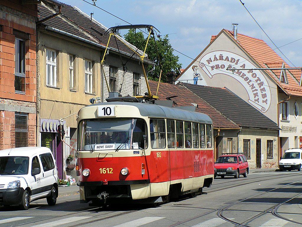 Fotogalerie » ČKD Tatra T3G 1612 | Brno | Juliánov | Táborská | Geislerova
