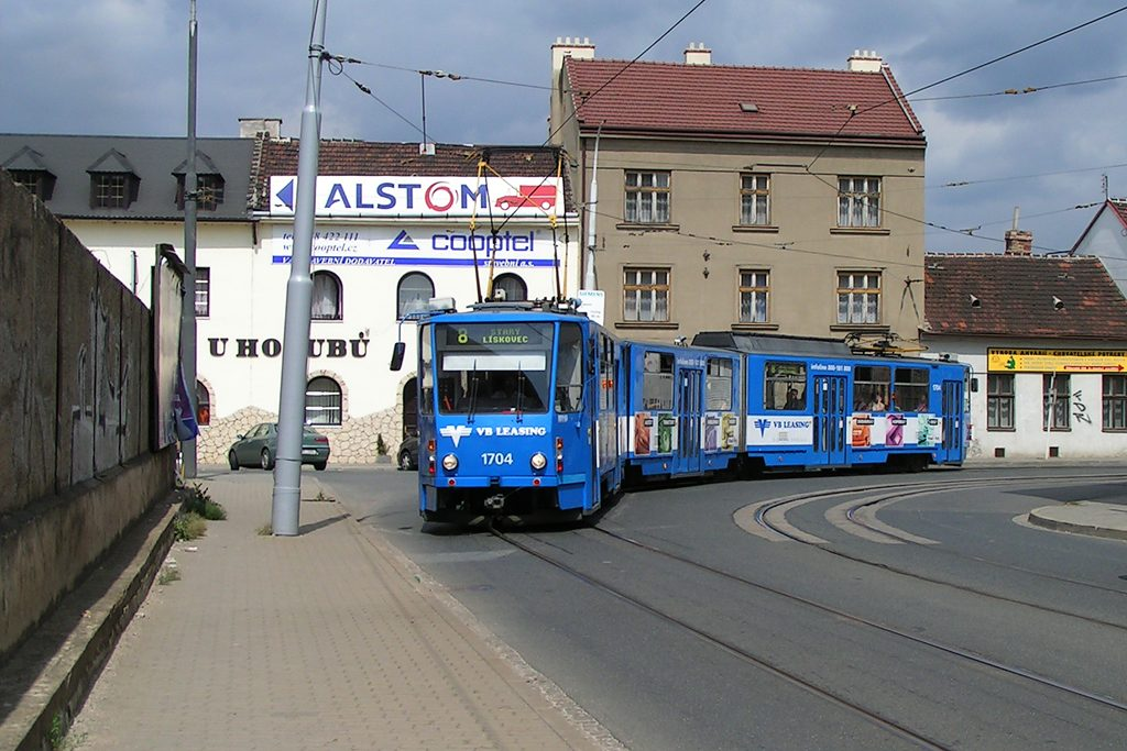 Fotogalerie » ČKD Tatra KT8D5 1704 | Brno | Juliánov | Životského
