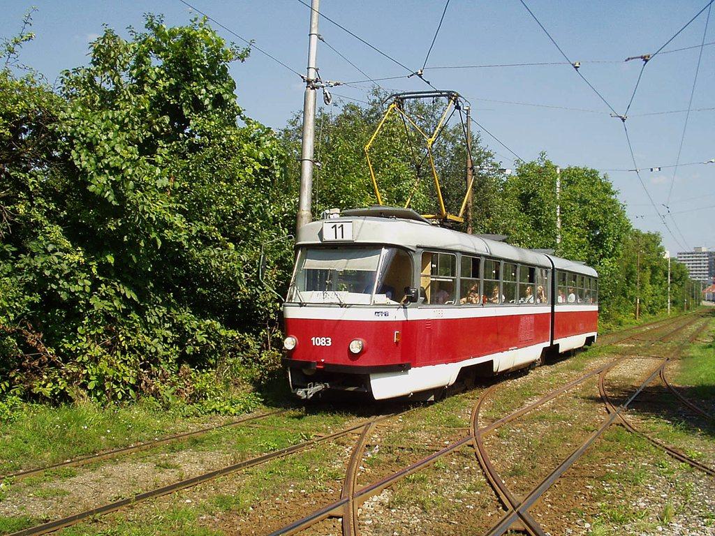 Fotogalerie » ČKD Tatra K2 1083   Brno   Žabovřesky   Kníničská
