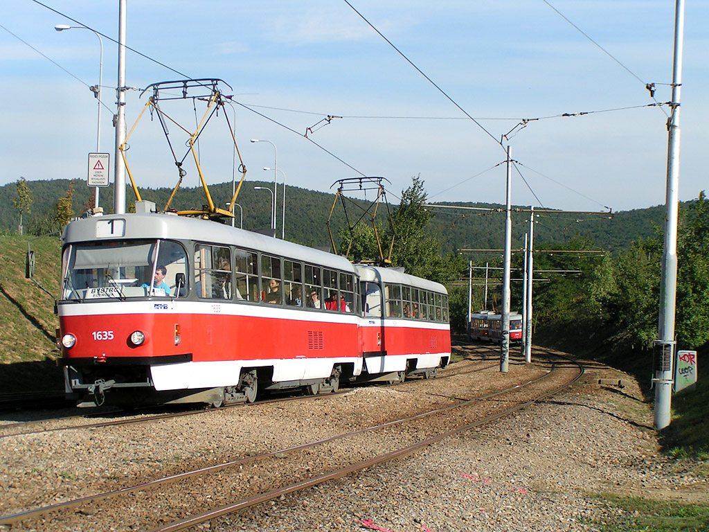 Fotogalerie » ČKD Tatra T3G 1635 | Brno | Bystrc
