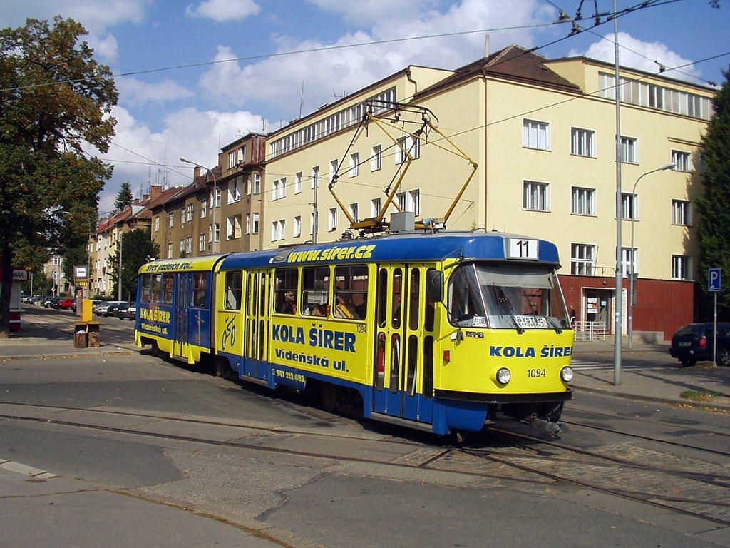 Fotogalerie » ČKD Tatra K2 1094 | Brno | Černá Pole | Lesnická