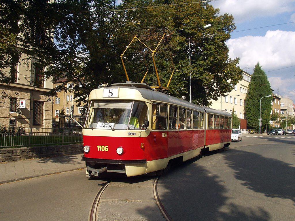 Fotogalerie » ČKD Tatra K2 1106 | Brno | Černá Pole | Zemědělská | Zemědělská, smyčka