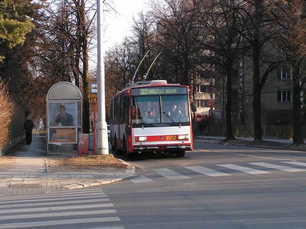 Fotogalerie » Škoda 15TrM 3502 | Brno | Královo Pole | Chodská | Charvátská