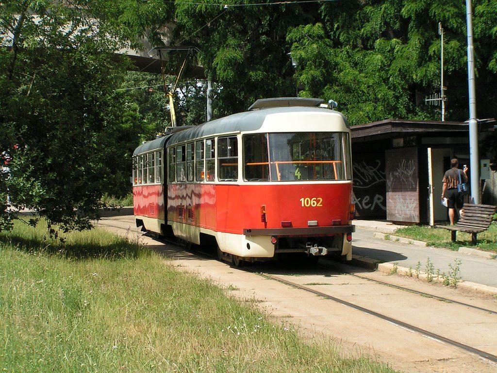 Fotogalerie » ČKD Tatra K2P 1062 | Brno | Maloměřice | Obřanská | Babická, smyčka