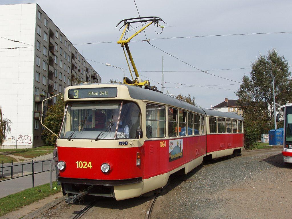 Fotogalerie » ČKD Tatra K2P 1024 | Brno | Židenice | Stará Osada, smyčka