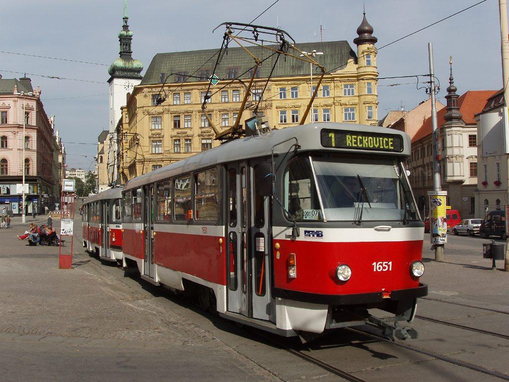 Fotogalerie » ČKD Tatra T3G 1651   ČKD Tatra T3G 1652   Brno   střed   náměstí Svobody   Náměstí Svobody