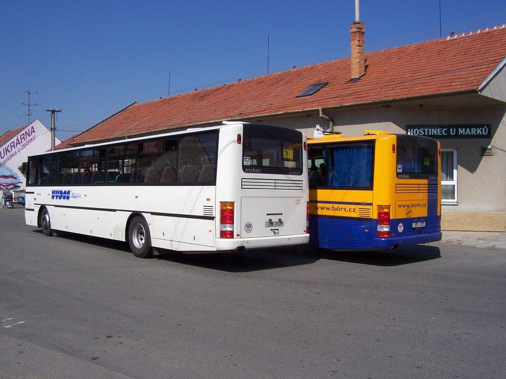 Fotogalerie » Karosa C954E.1360 2B9 0327   Karosa C954E.1360 2B8 1053   Otnice   Otnice, host. U Marků