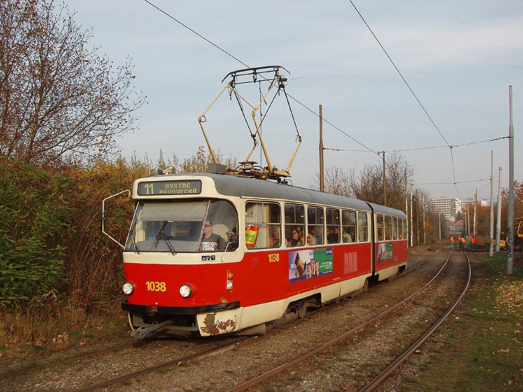 Fotogalerie » ČKD Tatra K2T 1038 | Brno | Žabovřesky | Kníničská