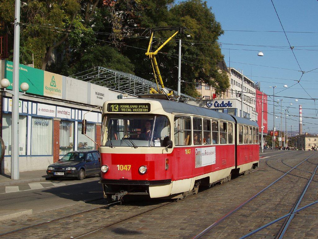 Fotogalerie » ČKD Tatra K2P 1047 | Brno | střed | Nádražní