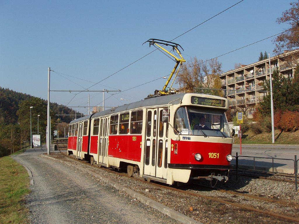Fotogalerie » ČKD Tatra K2P 1051   Brno   Komín   Bystrcká   Podlesí