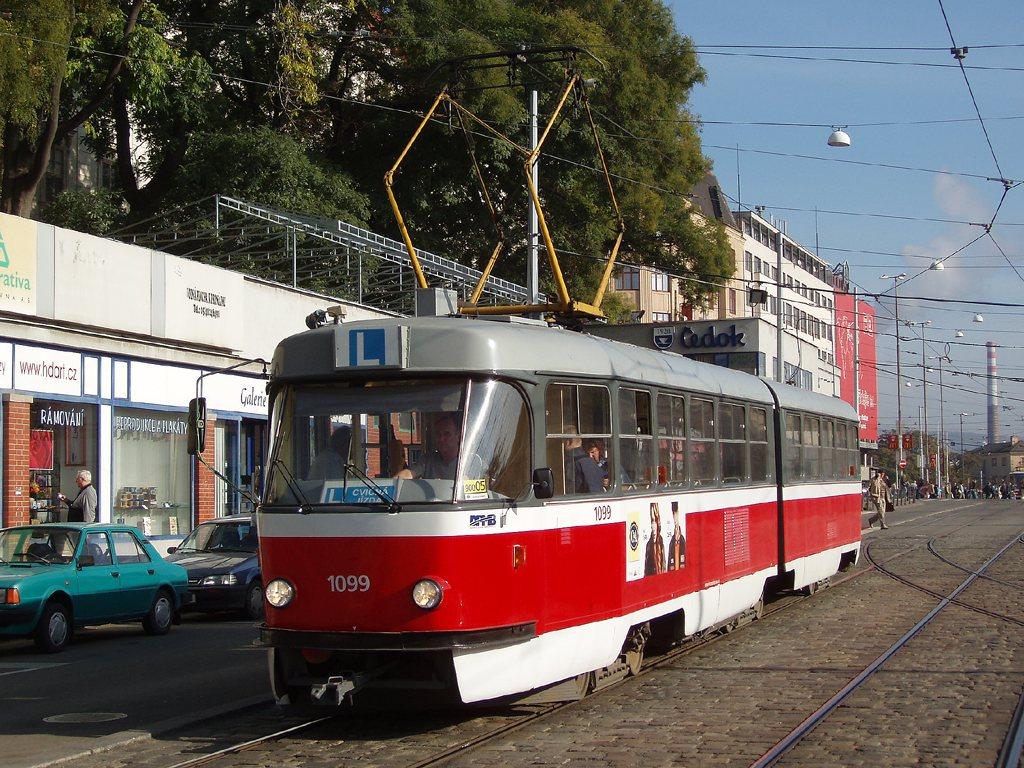 Fotogalerie » ČKD Tatra K2 1099 | Brno | střed | Nádražní