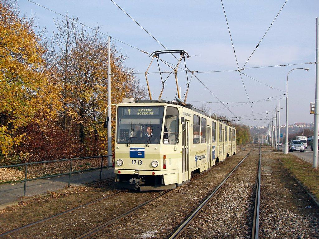 Fotogalerie » ČKD Tatra KT8D5 1713 | Brno | Žabovřesky | Kníničská