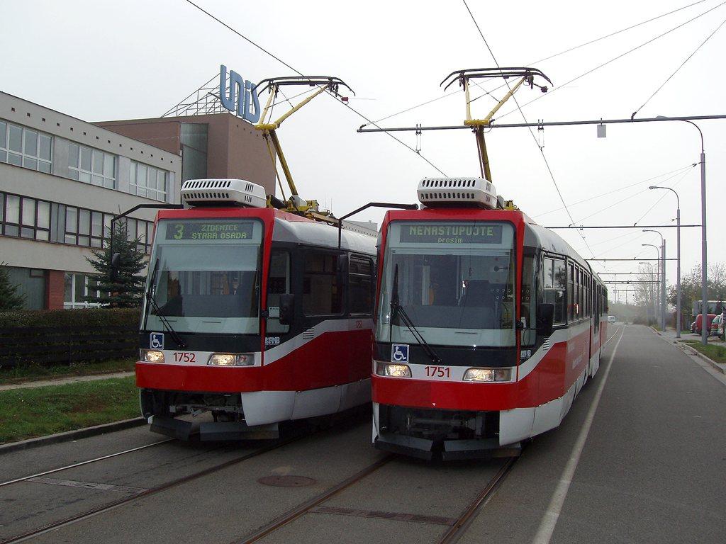 Fotogalerie » Pars Nova K3R-N 1751 | Pars Nova K3R-N 1752 | Brno | Komín | Jundrovská | Komín, smyčka