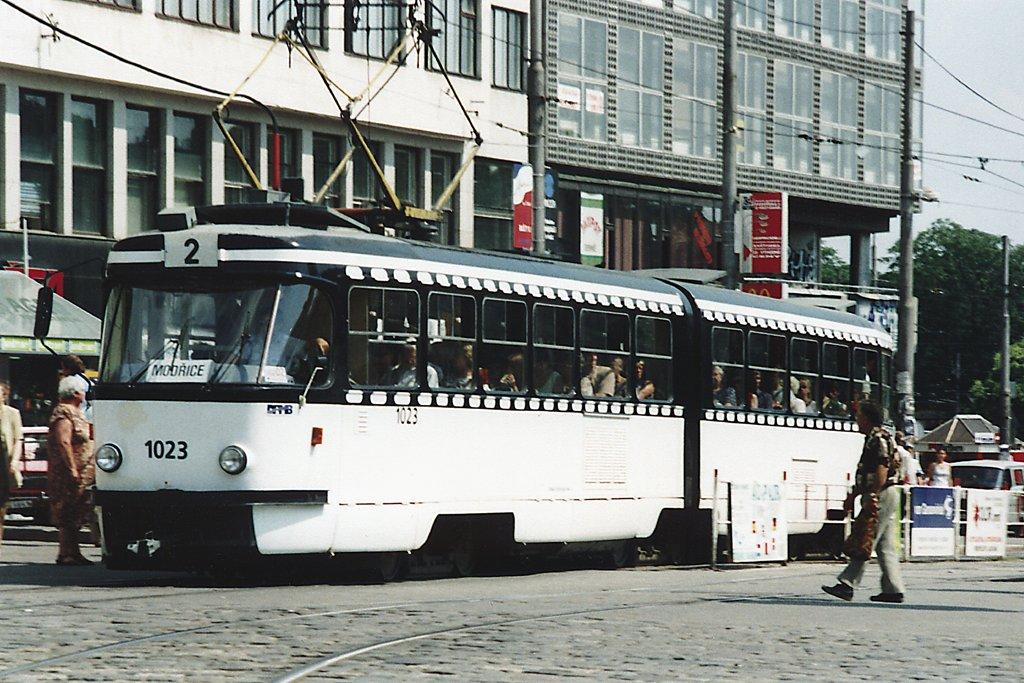 Fotogalerie » ČKD Tatra K2 1023 | Brno | střed | Nádražní | Hlavní nádraží