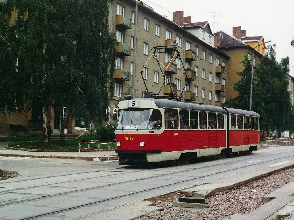 Fotogalerie » ČKD Tatra K2 1077 | Brno | Černá Pole | Merhautova