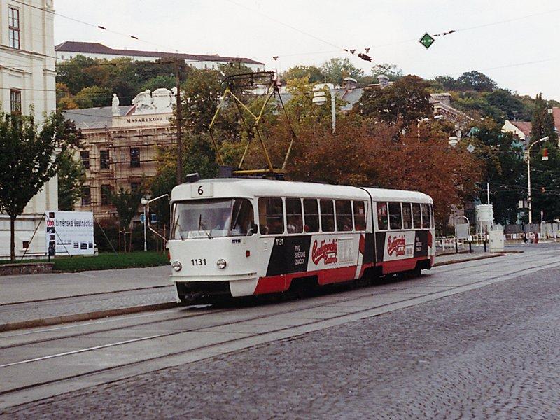 Fotogalerie » ČKD Tatra K2MM 1131   Brno   střed   Joštova   Česká
