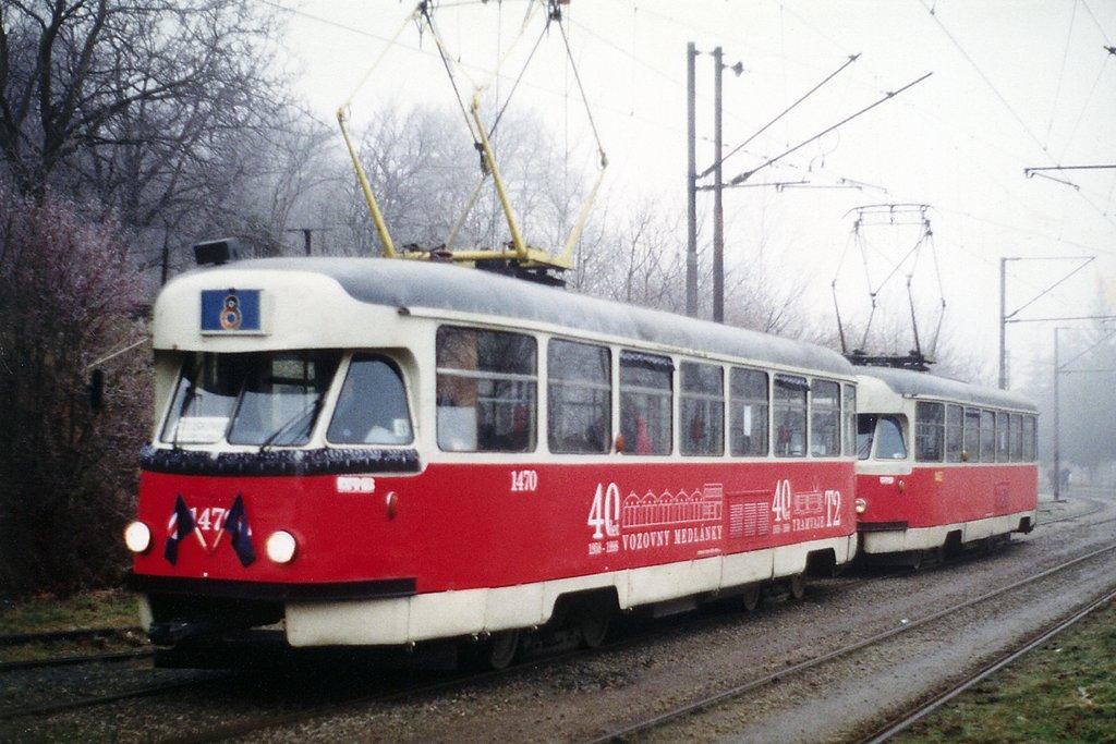 Fotogalerie » Tatra T2R 1470 | Tatra T2R 1462 | Brno | Stránská skála
