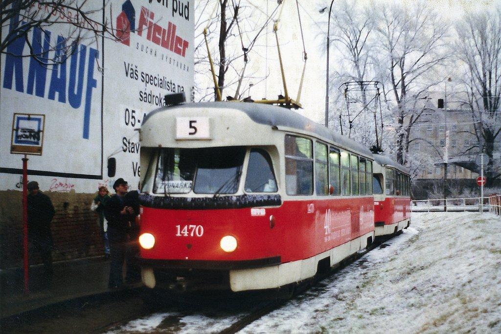 Fotogalerie » Tatra T2R 1470 | Tatra T2R 1462 | Brno | Trnitá | Zvonařka, smyčka