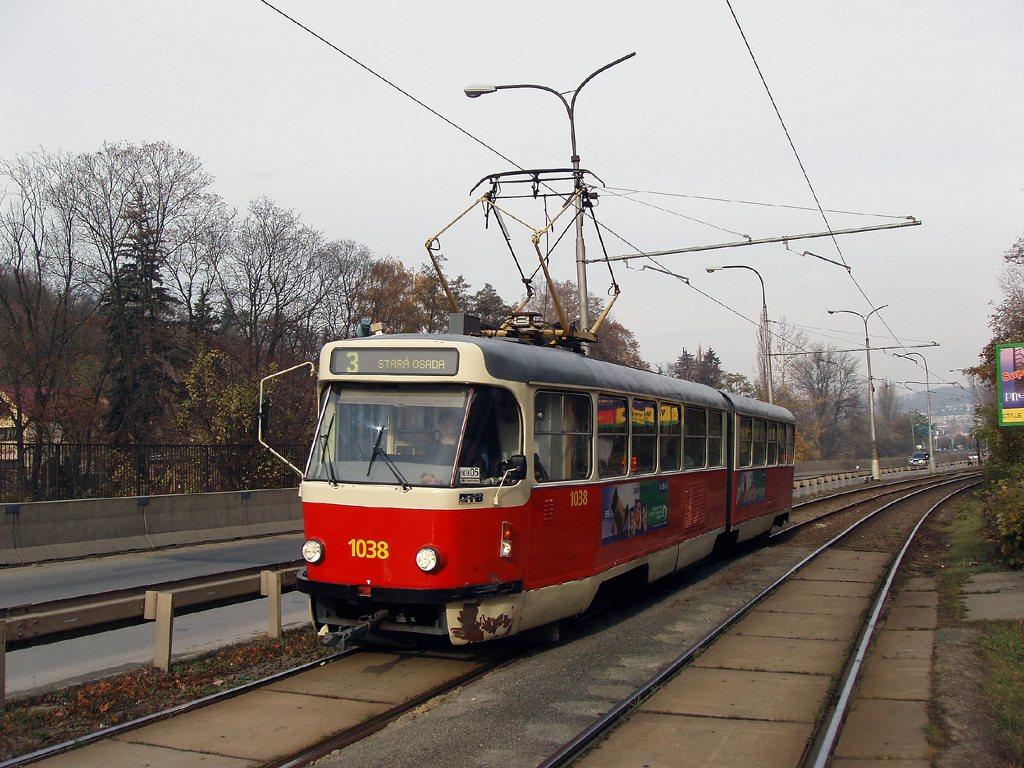 Fotogalerie » ČKD Tatra K2T 1038 | Brno | Žabovřesky | Žabovřeská