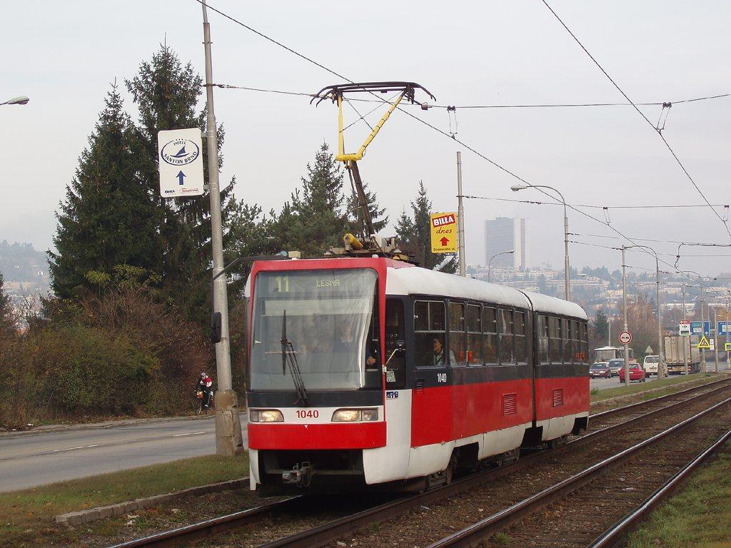 Fotogalerie » ČKD Tatra K2R03-P 1040 | Brno | Žabovřesky | Žabovřeská