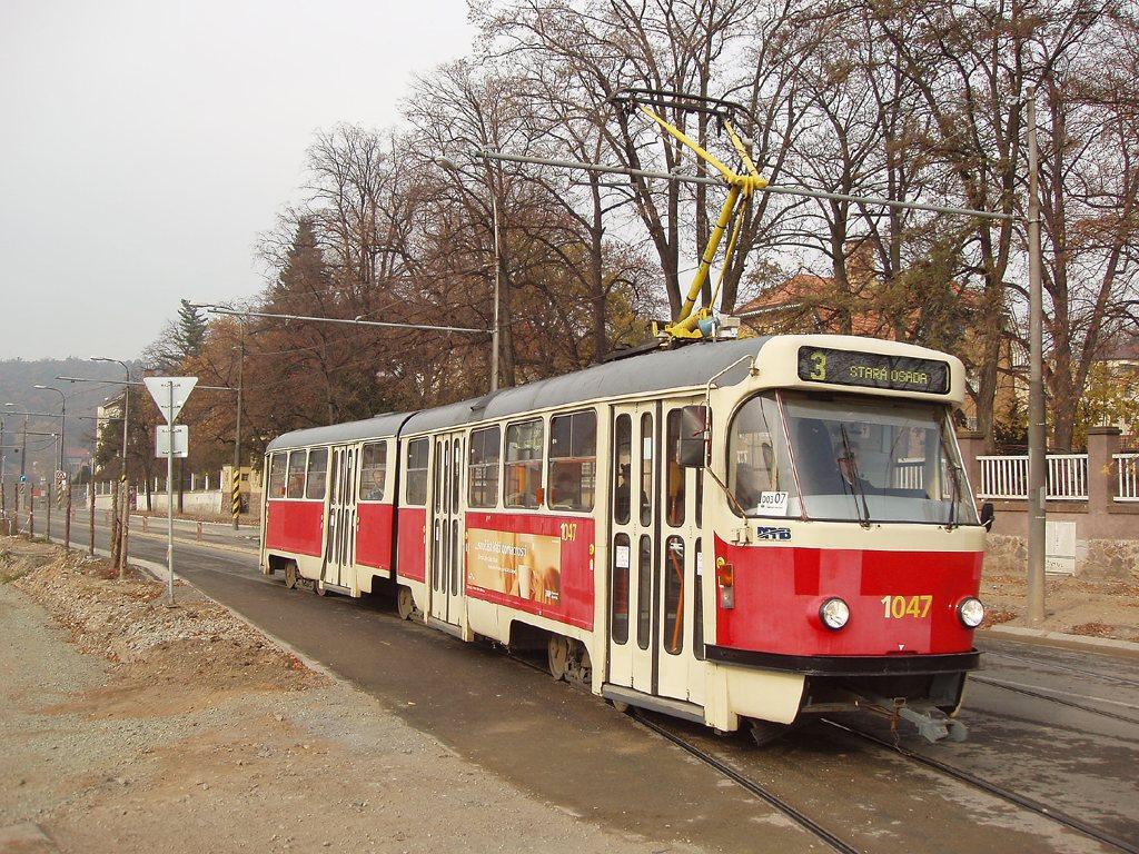 Fotogalerie » ČKD Tatra K2P 1047 | Brno | Pisárky | Hlinky