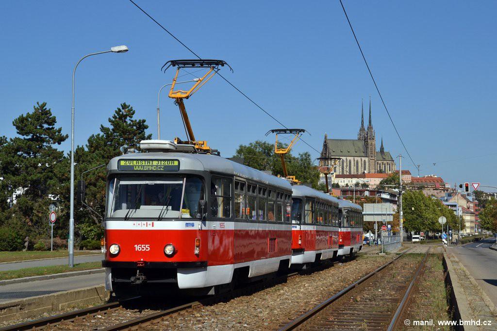 Fotogalerie » Pragoimex T3R.PV 1655 | Pragoimex T3R.PV 1657 | Pragoimex T3R.PV 1658 | Brno | Štýřice | Renneská