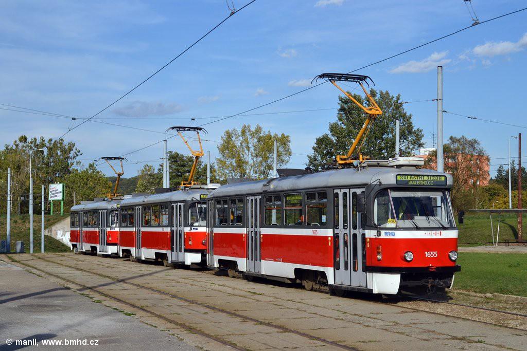 Fotogalerie » Pragoimex T3R.PV 1655 | Pragoimex T3R.PV 1657 | Pragoimex T3R.PV 1658 | Brno | Bystrc | Rakovecká | Rakovecká, smyčka